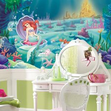 Extra Large Murals Littlest Mermaid Chair Rail Wall Decal