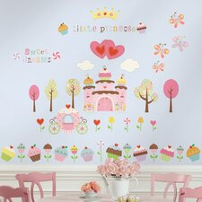 Room Mates Deco 56-Piece Happi Cupcake Wall Decal