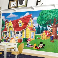 <strong>Room Mates</strong> Extra Large Murals Mickey and Friends Chair Rail Wall Decal