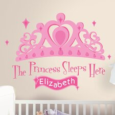 <strong>Room Mates</strong> 131 Piece Princess Sleeps Here Giant Wall Decal