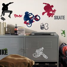 <strong>Room Mates</strong> Extreme Sports Wall Decal