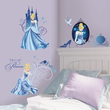 <strong>Room Mates</strong> Disney Princess Cinderella Glamour Wall Decal
