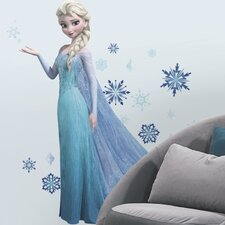 44 Piece Frozen Elsa Peel and Stick Giant Wall Decal Set