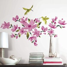 35 Piece Deco Flowering Vine Peel and Stick Wall Decal Set