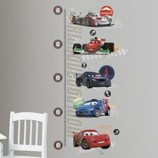Cars 2 Peel and Stick Metric Growth Chart Wall Decal