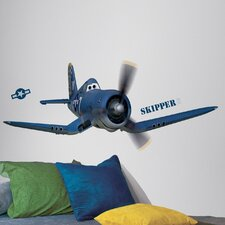 <strong>Room Mates</strong> Planes - Skipper Riley Peel and Stick Giant Wall Decal