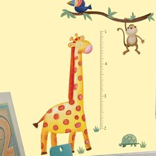 <strong>Room Mates</strong> Peel & Stick Jungle Adventure Giraffe Growth Chart Wall Decal