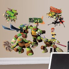 30 Piece Peel & Stick Wall Decals/Wall Stickers Teenage Mutant Ninja Turtles Wall Decal Set