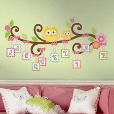 <strong>Room Mates</strong> Peel & Stick Giant Wall Decals/Wall Stickers Happi Scroll Tree Letter Branch Wall Decal