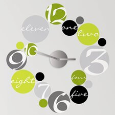 19 Piece Peel & Stick Clock Circle Wall Decal Set
