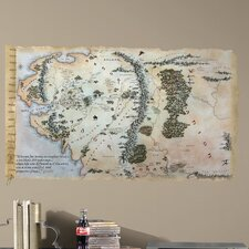Peel & Stick Giant The Hobbit Middle Earth Map Wall Decal