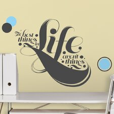 7 Piece Peel & Stick Giant Wall Decals/Wall Stickers 55 Hi's The Best Things Life Wall Decal Set