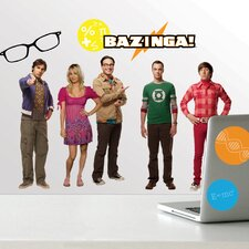 30 Piece Peel & Stick Giant Wall Decals/Wall Stickers 30 Piece Big Bang Theory Wall Decal Set