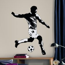 Studio Designs 6 Piece Soccer Player Wall Decal Set