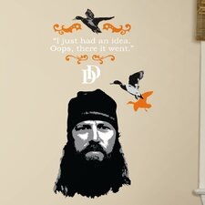 12 Piece A&E Television Duck Dynasty Jase Peel and Stick Giant Wall Decal Set