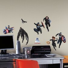 25 Piece Marvel Captain America 2 Peel and Stick Wall Decal Set