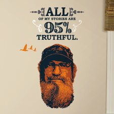 11 Piece A&E Television Duck Dynasty Si Peel and Stick Giant Wall Decal Set