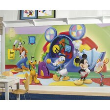 Mickey and Friends Clubhouse Capers Chair Rail Prepasted Wall Mural