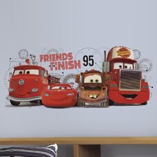Cars 2 Friends to the Finish Giant Wall Decal