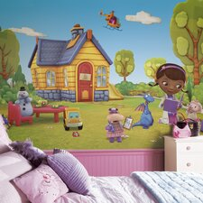 Doc McStuffins Chair Rail Prepasted Wall Mural