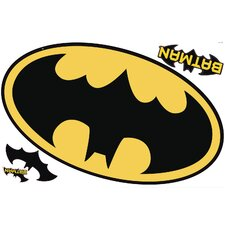Popular Characters Batman Logo Dry Erase Peel and Stick Giant Wall Decal