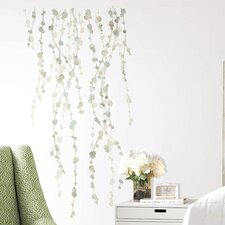 10 Piece Hanging Vine Watercolor Wall Decal Set