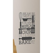 Cooking Conversions Peel and Stick Wall Decal