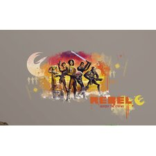Popular Characters Star Wars Rebels Watercolor Peel and Stick Giant Wall Graphic