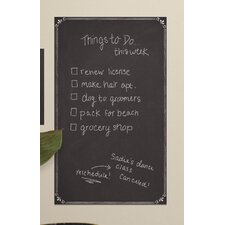 Decorative Chalkboard Peel and Stick Giant Wall Decal