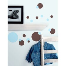 Just Dots Peel and Stick Wall Sticker in Blue and Brown