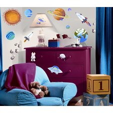 35-Piece Outer Space Peel and Stick Wall Sticker