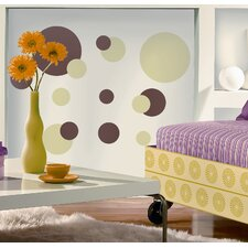 Just Dots Peel and Stick Wall Sticker in Green and Brown