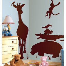 Megapacks Animal Silhouettes Peel in Brown and Stick Giant Wall Decal