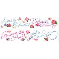 Licensed Designs Princess Quotes Peel and Stick Wall Decal Us Only