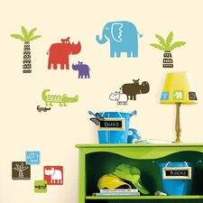 Room Mates Deco Safari Blocks Wall Decal
