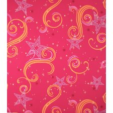 Star Glitter Wallpaper in Pink