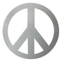 Peace Sign Peel and Stick Mirror