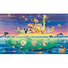 Noah's Sub Chair Rail Prepasted Wall Mural