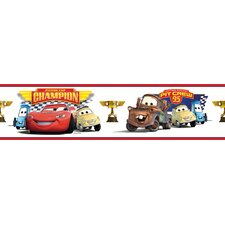 <strong>Room Mates</strong> Cars Piston Cup Champion Peel and Stick Wallpaper Border