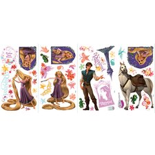 46-Piece Tangled Peel and Stick Wall Decal