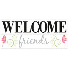 <strong>Room Mates</strong> Welcome Friends Wall Decal