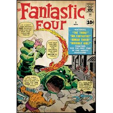 Fantastic Four Peel and Stick Comic Cover Wall Decal