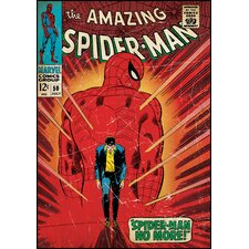 Spiderman Walking Away Peel and Stick Comic Book Cover Wall Decal
