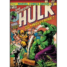 Hulk with Wolverine Peel and Stick Comic Book Cover Wall Decal