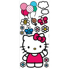 15-Piece The World of Hello Kitty Peel and Stick Giant Wall Decal
