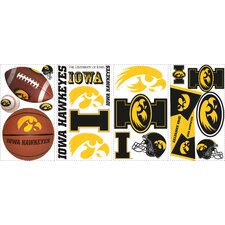 22 Piece University of Iowa Wall Decal