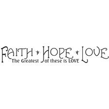 Faith, Hope and Love Peel and Stick Quotable