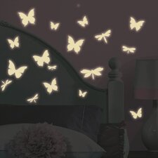 <strong>Room Mates</strong> Butterfly and Dragonfly Glow in the Dark Wall Decal