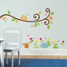 Happi Scroll Branch Peel and Stick Wall Decals