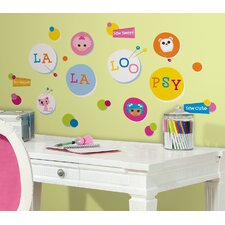 <strong>Room Mates</strong> Lalaloopsy Polka Dots Wall Decal